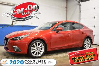 Used 2016 Mazda MAZDA3 GT | LEATHER | HEADS-UP | NAVIGATION | SUNROOF for sale in Ottawa, ON