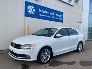 Used 2016 Volkswagen Jetta Sedan HIGHLINE - LEATHER / SUNROOF / CERTIFIED! for sale in Edmonton, AB
