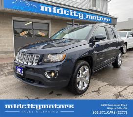 Used 2015 Jeep Compass LIMITED 4X4 | HEATED LEATHER SEATS | CLEAN CARFAX for sale in Niagara Falls, ON