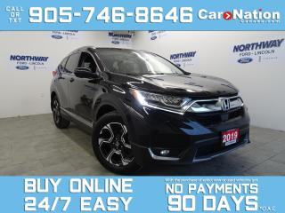 Used 2019 Honda CR-V TOURING | AWD | LEATHER | PANO ROOF | NAV for sale in Brantford, ON
