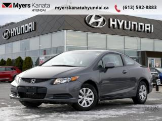 Used 2012 Honda Civic COUPE LX  - $97 B/W for sale in Kanata, ON