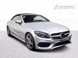 Used 2017 Mercedes-Benz C-Class C300 AMG Pack Convertible 4Matic Cuir GPS Caméra for sale in St-Hubert, QC