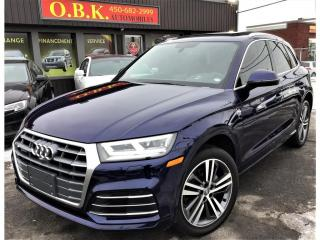 Used 2018 Audi Q5 2.0 Quattro Technik S LINE-NAVIGATION-CAM 360-TOIT for sale in Laval, QC