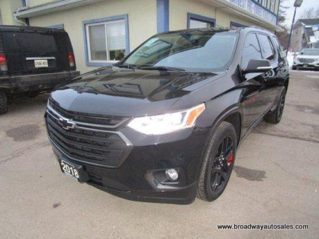 2018 Chevrolet Traverse ALL-WHEEL DRIVE PREMIER EDITION 7 PASSENGER 3.6L - V6.. CAPTAINS.. THIRD ROW.. NAVIGATION.. LEATHER.. HEATED/AC SEATS.. BACK-UP CAMERA.. SUNROOF..