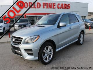 Used 2015 Mercedes-Benz ML-Class Accident Free! Ontario! Immaculate! for sale in Etobicoke, ON