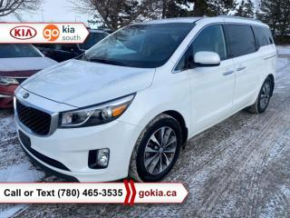 Used 2017 Kia Sedona SX+; LOW KM!!!, HEATED SEATS/WHEEL, LEATHER, BACKUP CAMERA, 7 PASSENGER, BUTTON START, ANDROID AUTO, APPLE CARPLAY, BLUETOOTH for sale in Edmonton, AB