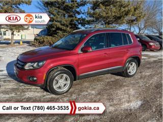 Used 2012 Volkswagen Tiguan HIGHLINE; PANORAMIC SUNROOF, CAR STARTER, AWD, 3M, HEATED SEATS, LEATHER, NAV, WINTER/SUMMER TIRES/RIMS, BACKUP SENSORS, BLUETOOTH for sale in Edmonton, AB