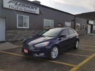 Used 2016 Ford Focus Titanium-SUNROOF-LEATHER-NAVIGATION-REMOTE START for sale in Tilbury, ON
