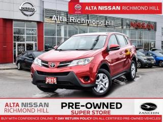 Used 2015 Toyota RAV4 LE   Back-UP CAM   Keyless Entry   Bluetooth for sale in Richmond Hill, ON