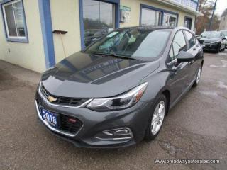 Used 2018 Chevrolet Cruze FUEL EFFICIENT LT-RS EDITION 5 PASSENGER 1.4L - TURBO.. HEATED SEATS.. BACK-UP CAMERA.. BLUETOOTH SYSTEM.. TOUCH SCREEN DISPLAY.. KEYLESS ENTRY.. for sale in Bradford, ON
