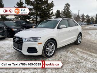 Used 2017 Audi Q3 KOMFORT; PANORAMIC SUNROOF, AWD, HEATED SEATS, A/C, LEATHER, BLUETOOTH for sale in Edmonton, AB
