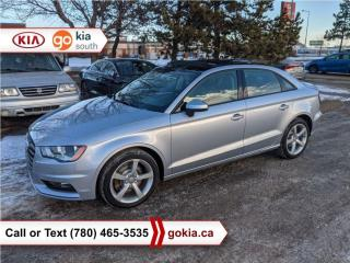 Used 2016 Audi A3 KOMFORT; AWD, LEATHER, HEATED SEATS, SUNROOF for sale in Edmonton, AB