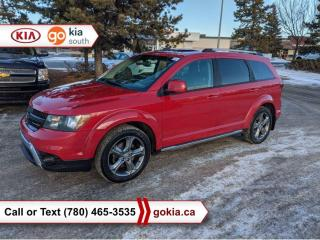 Used 2016 Dodge Journey CROSSROAD; V6, AWD, LEATHER, SUNROOF, CAR STARTER, REAR DVD, NAV. HEATED SEATS/WHEEL, SMART KEY, 7 PASSENGER, SMART KEY for sale in Edmonton, AB