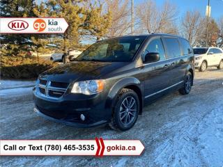 Used 2017 Dodge Grand Caravan SXT; CAR STARTER, LEATHER, DVD PLAYER, BACKUP CAMERA, 7 PASSENGER, STOW AND GO, BLUETOOTH for sale in Edmonton, AB