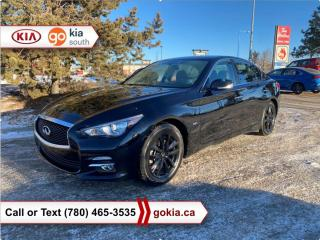 Used 2017 Infiniti Q50 2.0T; SUNROOF, AWD, WINTER TIRES, HEATED SEATS, LEATHER, BACKUP CAMERA, BLUETOOTH for sale in Edmonton, AB