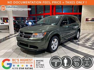 Used 2017 Dodge Journey Canada Value Pkg - Local / No Accident / One Owner / 7 Passenger for sale in Richmond, BC