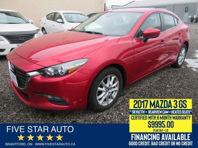 2017 Mazda MAZDA3 GS Skyacitv - Certified w/ 6 Month Warranty