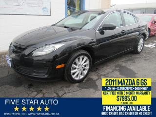 Used 2011 Mazda MAZDA6 GS *Clean Carfax + 1 Owner* Certified + Warranty for sale in Brantford, ON
