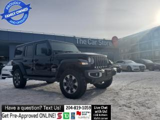 Used 2018 Jeep Wrangler Unlimited JL Sahara 4x4 LEATHER Navi Loaded LOCAL NO ACCIDEN for sale in Winnipeg, MB