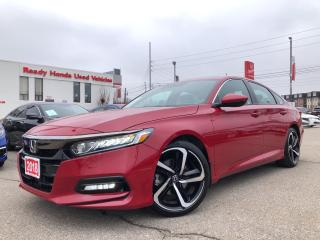 Used 2018 Honda Accord Sedan Sport - Lane Watch - Sunroof -  Low KMS!! for sale in Mississauga, ON