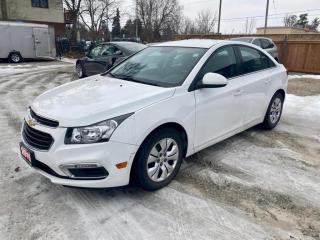 Used 2015 Chevrolet Cruze 4dr, 1LT, bluetooth, low mileage, no accidents for sale in Halton Hills, ON