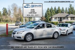 Used 2011 Chevrolet Cruze LS w/1SA, RARE MANUAL, Low 77k, No Declarations, Local! for sale in Surrey, BC