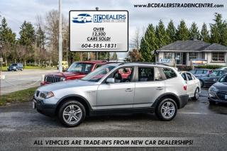Used 2005 BMW X3 AWD 3.0i, 24 Service Records, Pano Sunroof, Leather, Clean! for sale in Surrey, BC