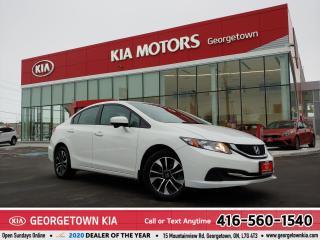 Used 2015 Honda Civic Sedan EX | CLEAN CARFAX | B/U CAM | ROOF | 12,586 KM | for sale in Georgetown, ON