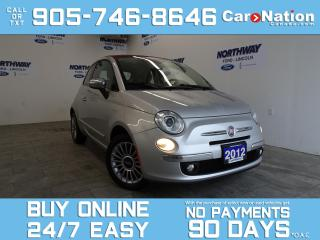Used 2012 Fiat 500 LOUNGE | CONVERTIBLE | RED LEATHER | ALLOYS for sale in Brantford, ON
