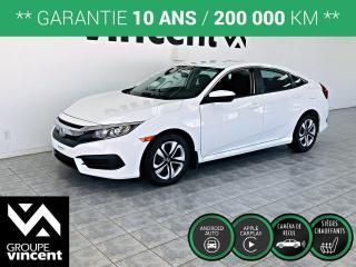 Used 2016 Honda Civic LX ** GARANTIE 10 ANS ** Roulez en Honda Civic à prix abordable! for sale in Shawinigan, QC