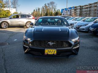 Used 2018 Ford Mustang ECOBOOST COUPE for sale in Port Moody, BC