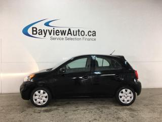 Used 2016 Nissan Micra SV - AUTO! A/C! CRUISE! PWR GROUP! for sale in Belleville, ON