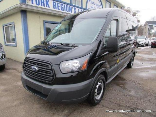 "2018 Ford Transit 1-TON PEOPLE MOVING 15 PASSENGER 3.5L - V6.. MEDIUM ROOF HEIGHT.. 148"" WHEEL-BASE.. BACK-UP CAMERA.. SLIDING PASSENGER DOOR.. TOW SUPPORT.."
