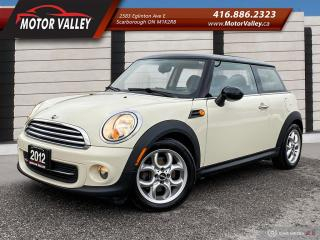 Used 2012 MINI Cooper Hardtop Sunroof - Leather NO ACCIDENT! Clean Car! for sale in Scarborough, ON