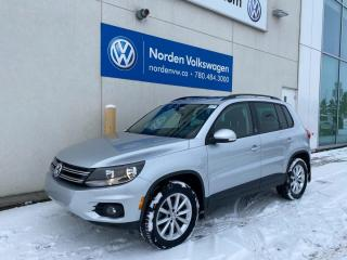 Used 2017 Volkswagen Tiguan WOLFSBURG EDITION - LEATHER / SUNROOF / VW CERTIFIED! for sale in Edmonton, AB