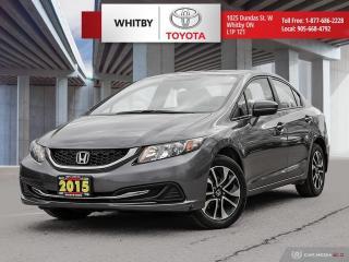 Used 2015 Honda Civic Sedan EX for sale in Whitby, ON
