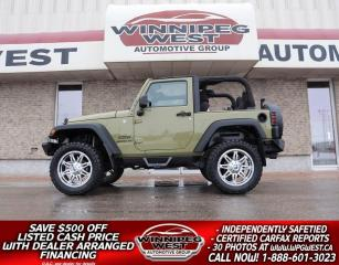 Used 2013 Jeep Wrangler LIFTED SPORT TRAIL RATED V6 4X4, AUTO, GREAT LOOKS for sale in Headingley, MB