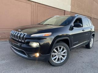Used 2014 Jeep Cherokee 4WD 4dr Limited, NAV, LEATHER, V6, (403)966-2131 to view for sale in Calgary, AB