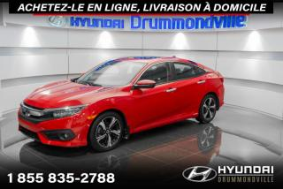Used 2018 Honda Civic TOURING + GARANTIE + NAVI + CUIR + WOW ! for sale in Drummondville, QC