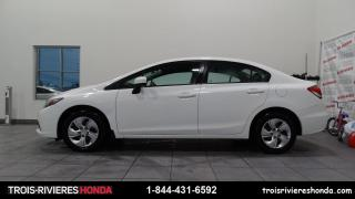 Used 2015 Honda Civic LX + BLUETOOTH + CAMERA  + CRUISE ! for sale in Trois-Rivières, QC