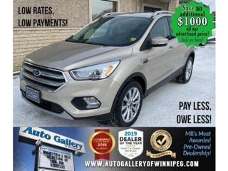 Used 2017 Ford Escape Titanium* LOW KMS/AWD/Sunroof/REMOTE START for sale in Winnipeg, MB