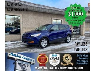 Used 2016 Ford Escape S* Automatic/Air Conditioning/Cruise Control for sale in Winnipeg, MB
