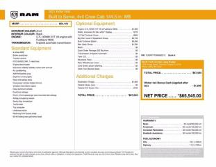 New 2021 RAM 1500 Big Horn|Built to Serive Edition|Navi|Level 2 for sale in Thornhill, ON