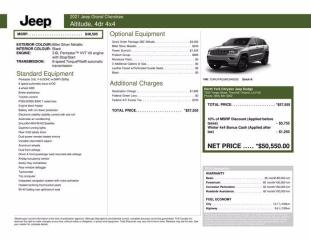 New 2021 Jeep Grand Cherokee Altitude|Power SunRoof|Pro Tech Grp for sale in Thornhill, ON