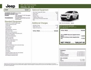 New 2021 Jeep Grand Cherokee Altitude 4X4 |Pro Tech Grp for sale in Thornhill, ON