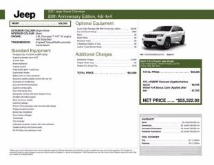 New 2021 Jeep Grand Cherokee 80th Anniversary Edition|Sun and Sound Grp for sale in Thornhill, ON