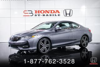 Used 2017 Honda Accord TOURING + CUIR + TOIT + NAVI + AUTO + WO for sale in St-Basile-le-Grand, QC