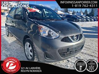 Used 2016 Nissan Micra S ( frais vip 395$ non inclus) for sale in Rouyn-Noranda, QC