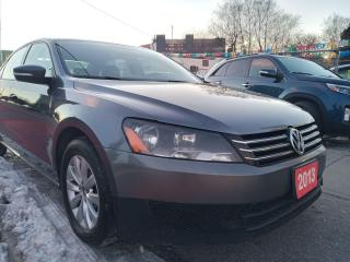 Used 2013 Volkswagen Passat TRENDLINE-EXTRA CLEAN-BLUETOOTH-AUX-ALLOYS for sale in Scarborough, ON