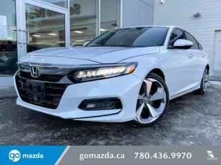 Used 2018 Honda Accord Sedan TOURING - FULL LOAD IN WONDERFUL WHITE, LEATHER, NAV, SUNROOF, AND MORE for sale in Edmonton, AB